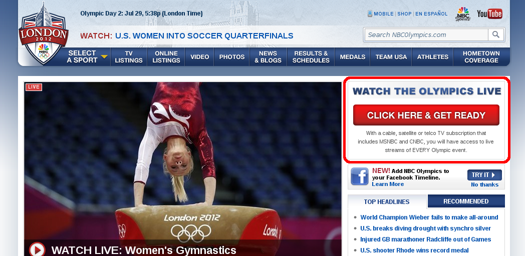 NBC Olympics Home Page