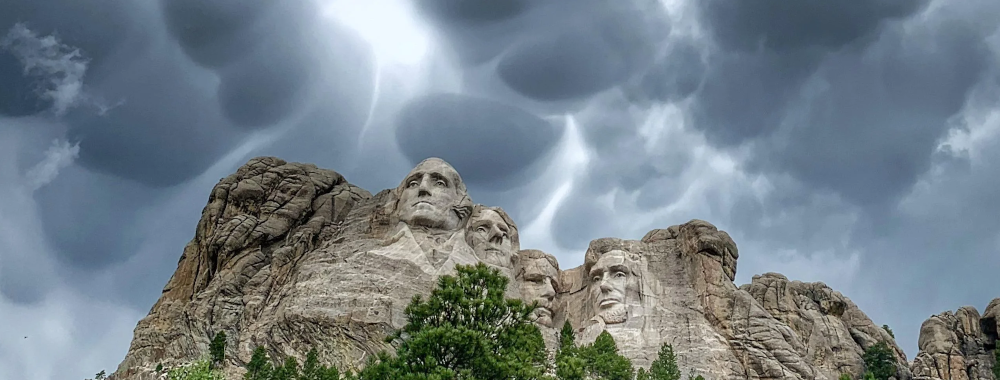 Storm over Mount Rushmore